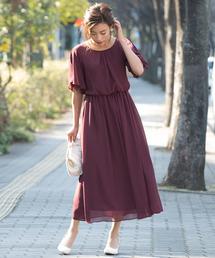 kana(カナ)の「レースフレア袖のロングドレス(ドレス)」