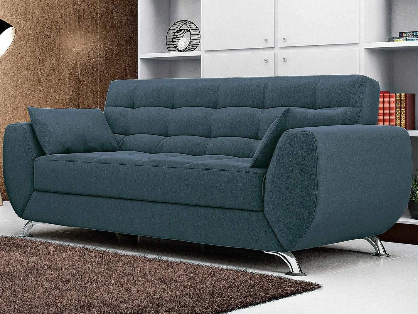 sofa modernos 2017 bonded leather durability sofá 3 lugares suede elegance larissa linoforte sofás