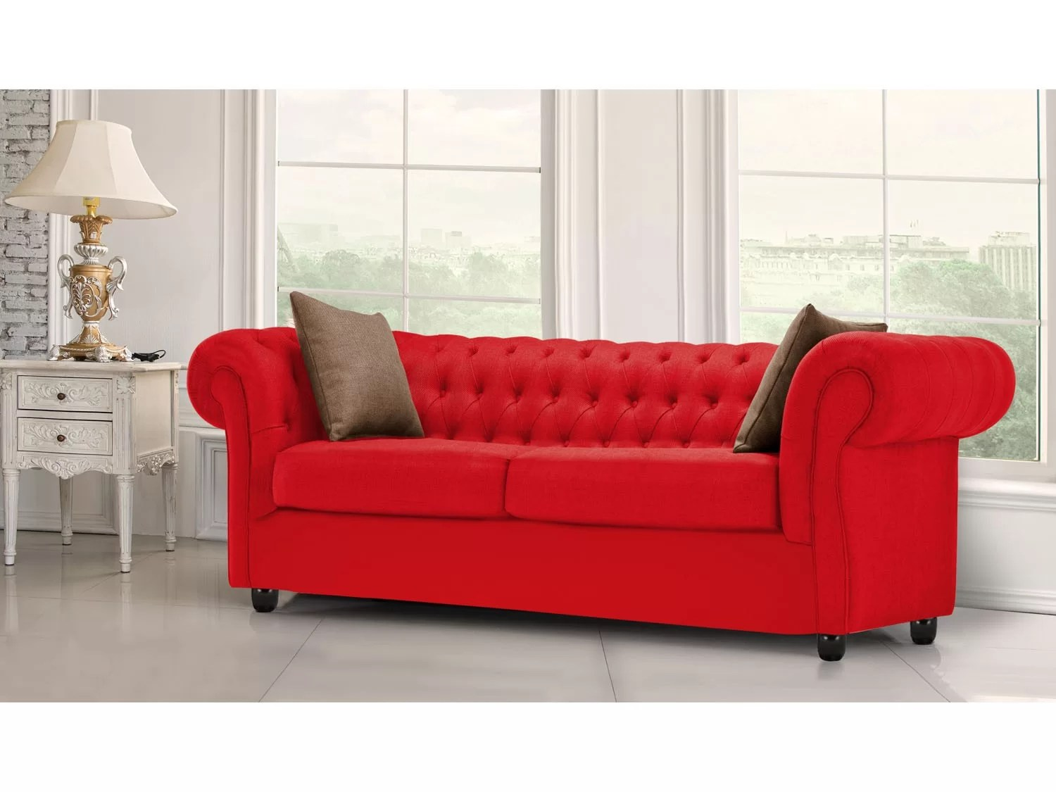 sofa legs with br castors wood sectional plans sofá 3 lugares suede master new chesterfield castor