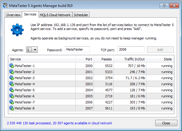 Configurando os Agentes de Testes no Gerenciador Metatester 5