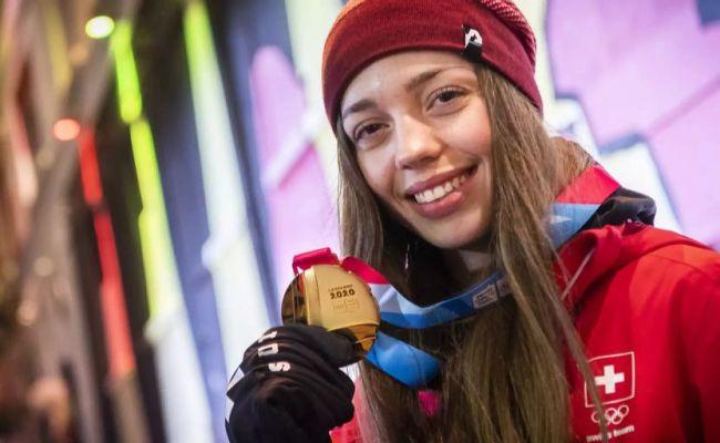 Olympische Jugendspiele Amélie Klopfenstein Holt Dritte