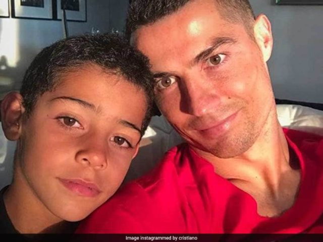 Watch: Cristiano Ronaldo Jr Follows Dad