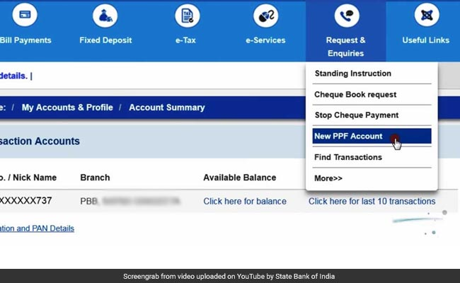 SBI online (SBI internet banking): How To Set Up PPF Public Provident Fund Account Via SBI OnlineSBI