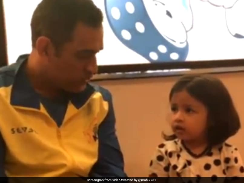 Watch: MS Dhoni Talking To Daughter Ziva In Six Languages Will Make Your Day