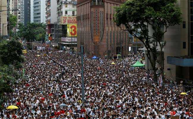 Over A Million Protest In Hong Kong Against China's Extradition Bill