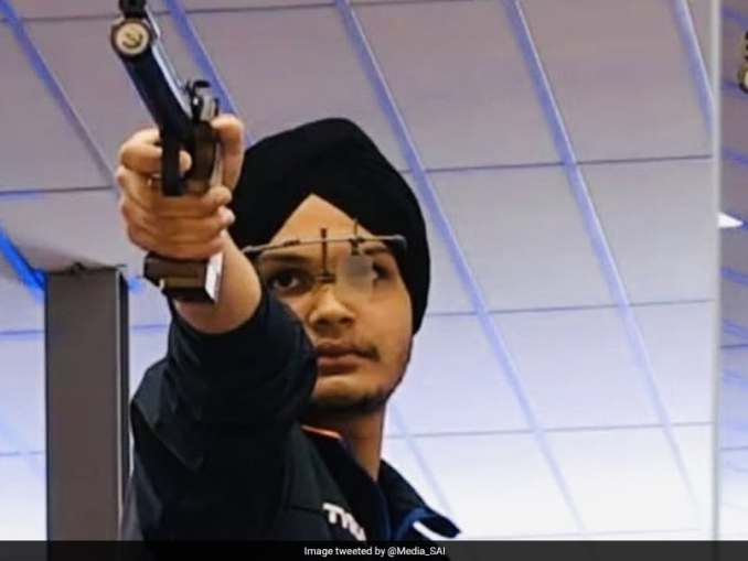 Image result for Sarabjot Singh wins India's ninth gold at ISSF Junior World Cup