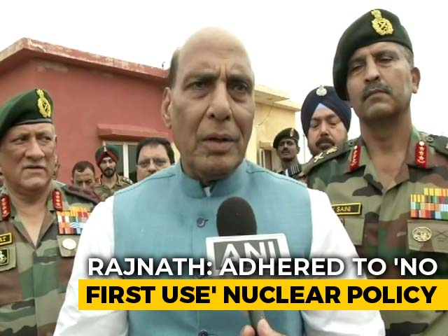 Indian Home Minister Rajnadh Singh On Nuclear Weapons