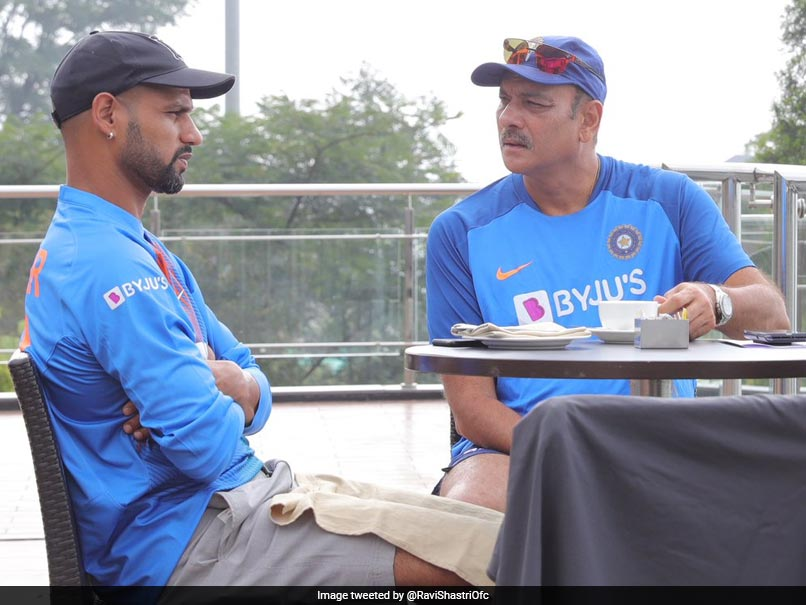 Ravi Shastri, Shikhar Dhawan Discuss Cricket Over Coffee Ahead Of Dharamsala T20I