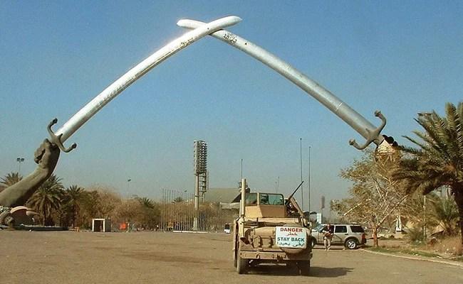 Two Rockets Target Baghdad Airport Base Housing US Troops