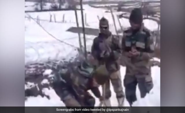 Amidst the snow, the jawan celebrates the birthday in this special way, watching the video will tear away from the eyes