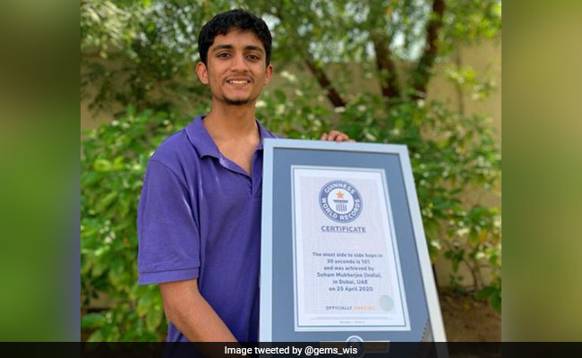 Indian Teen In UAE Sets Guinness World Record With 101 Side-To-Side Hops