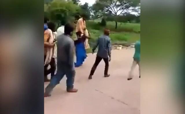 महिला को गांव में पीटते हुए घुमवाया, पति सहित 7 आरोपी गिरफ्तार कर भेजे गये जेल