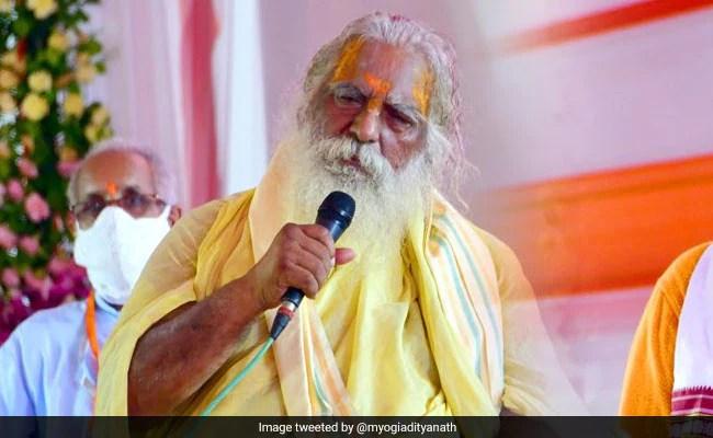 राम मंदिर ट्रस्ट प्रमुख टेस्ट कोविद + वी, अयोध्या में पीएम के साथ साझा मंच