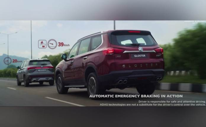 The MG Gloster gets segment-first autonomous emergency braking system.