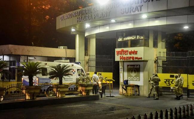 गुजरात के ओएनजीसी हजीरा प्लांट में विस्फोट के बाद आग बुझाई गई, कोई चोट नहीं