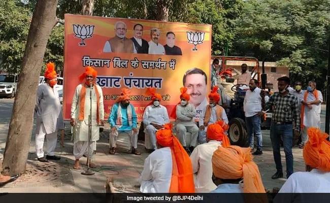 Delhi BJP Holds 'Khat Panchayat' To Garner Support For Farm Laws