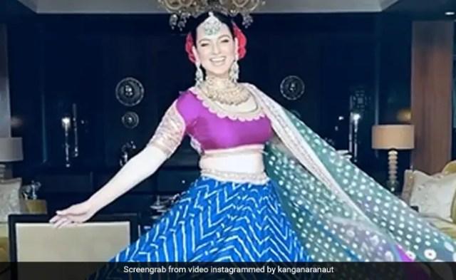 कंगना रनौत का लहंगा 14 महीनों में हुआ तैयार, भाई की शादी में पहनकर यूं किया डांस- देखें Video