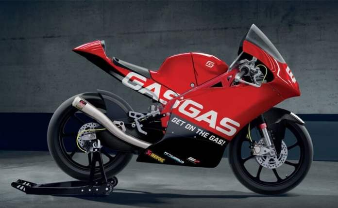 GasGas released a digital rendering of its RC 250 GP race bike that will compete in 2021
