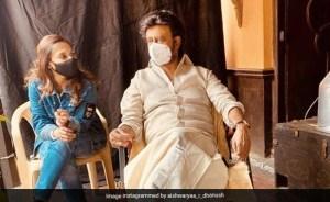 Rajinikanth is back to work;  Aishwarya posts adorable 'father-daughter moment'