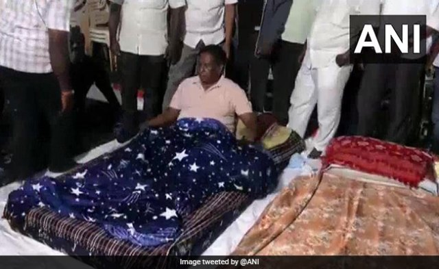 'Call Back Kiran Bedi': Puducherry Chief Minister Continues Sit-In Protest