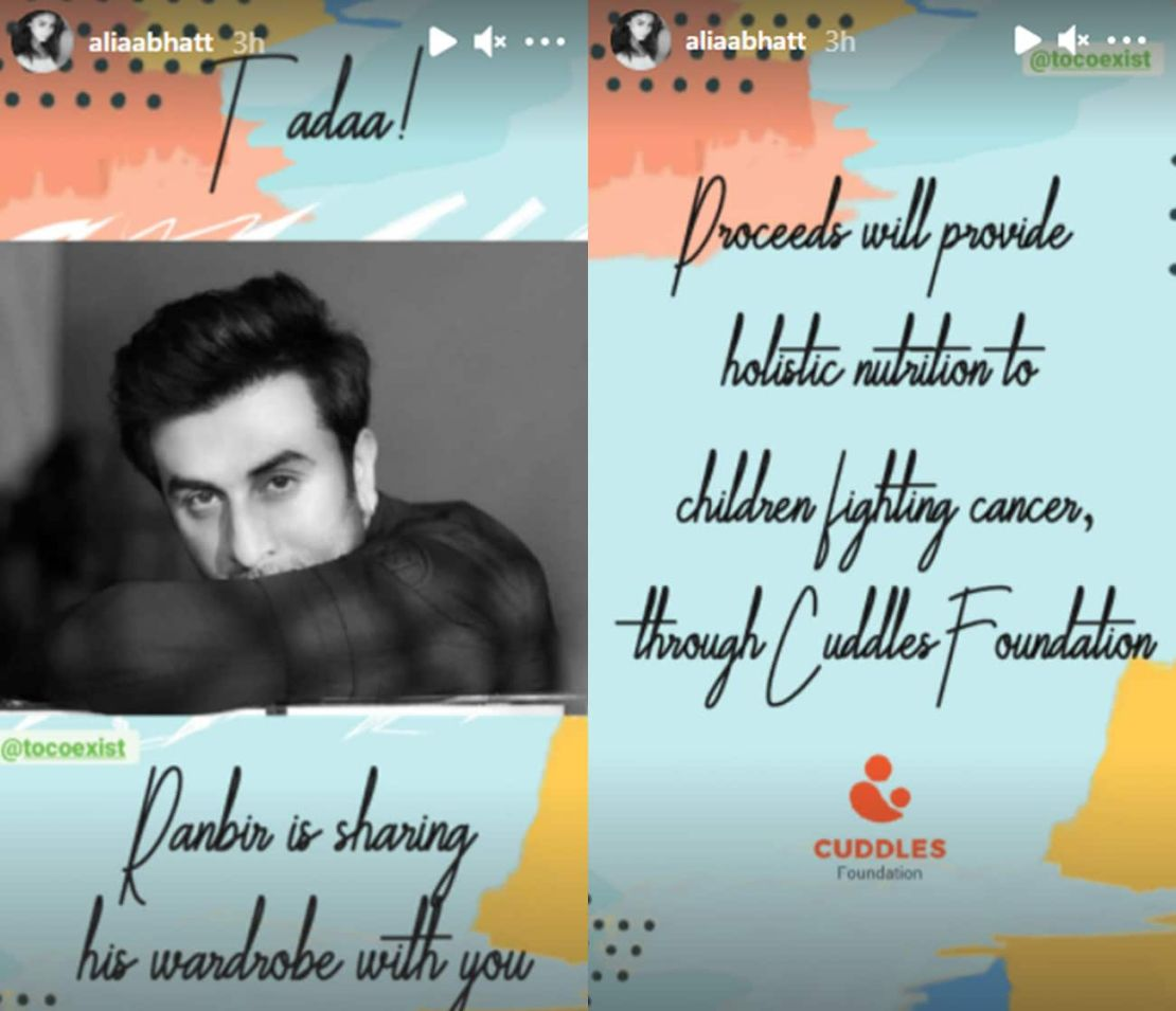 Image result for Ranbir's personal wardrobe have been put up for sale to help kids battling cancer.