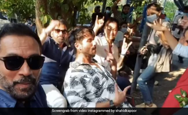 Shahid Kapoor teamed up with the team 'Pawri', said - this is our 'Pavri' happening ... Watch Video