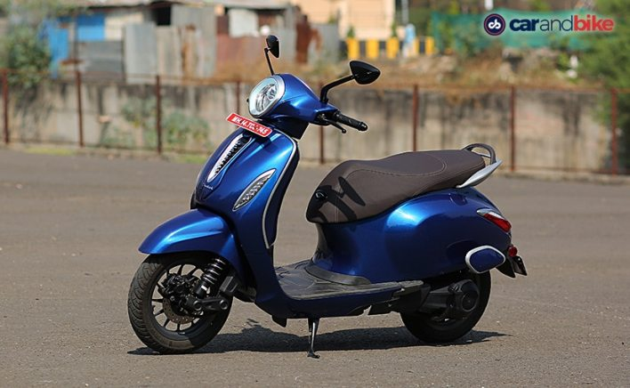 The Bajaj Chetak competes against the TVS iQube, Ather 450X and the upcoming Ola electric scooter