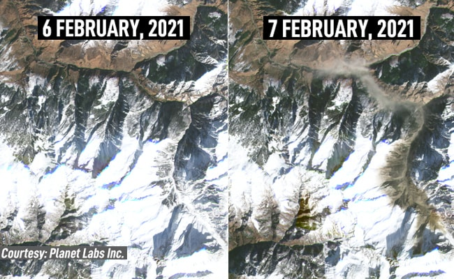 Exclusive: Before And After Satellite Photos Of Uttarakhand Disaster Site -  Path of Ex