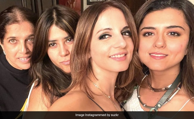 Sussanne Khan's Pic With Ekta Kapoor And Ridhi Dogra Has A Drew Barrymore Connection