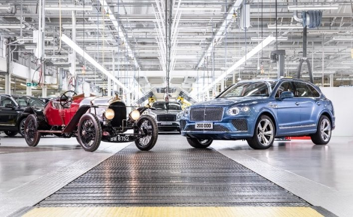 From 1919 to 2002, the company built 44,418 luxury cars of which 38,933 were made in Crewe.