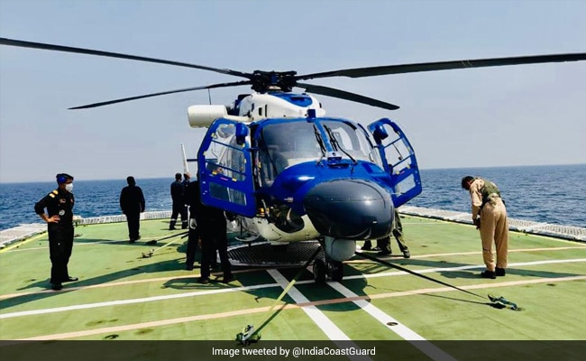 Coast Guard Conducts Landing, Deck Trial Of Indigenously-Built Helicopter