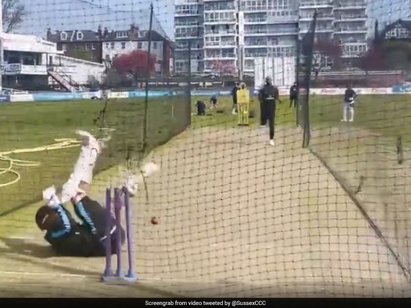 Watch: Jofra Archers Nasty Bouncer In Net Session Leaves Batsman On All Fours