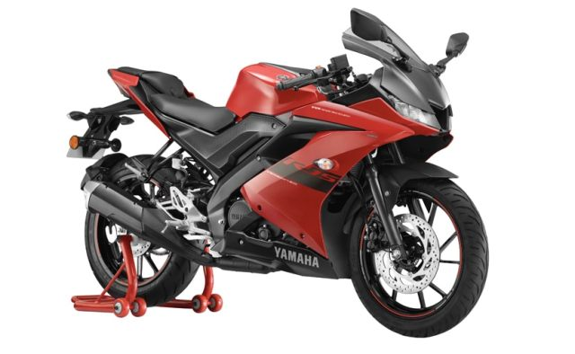 The new Metallic Red colour is about Rs. 400 more expensive than the entry-level Racing Blue