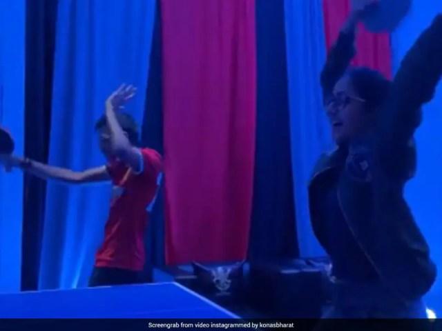 IPL 2021: Yuzvendra Chahal, Dhanashree Vermas Victory Dance After Beating RCB Players In Table Tennis. Watch