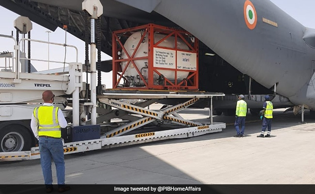 2 Containers For Carrying Oxygen Being Brought From Dubai: Home Ministry
