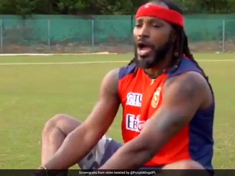 Watch: Punjab Kings Batsman Chris Gayle Tries Amrish Puris Iconic Dialogue. See How He Fares