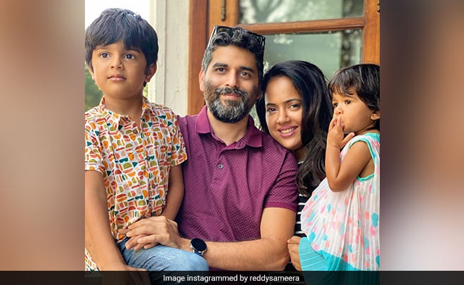 Sameera Reddy Tests Positive After Her Kids Contracted COVID-19: 'This Is The Time To Be Strong'