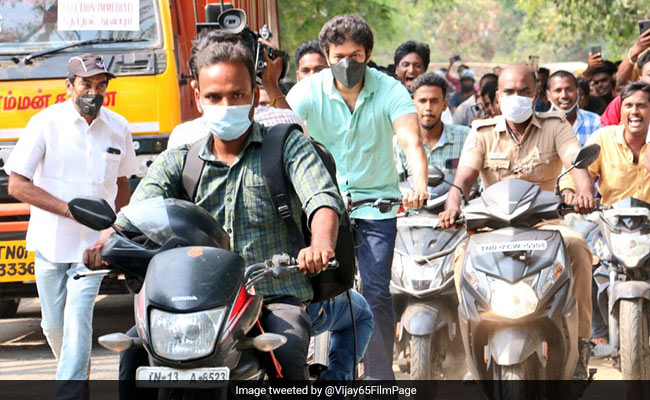 Actor Vijay's Cycle Ride To Poll Booth Sparks Frenzy. His Team Clarifies