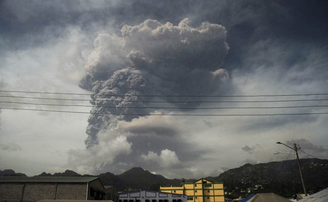 Caribbean Island Of St Vincent Covered In Thick Ash After Volcano Erupts