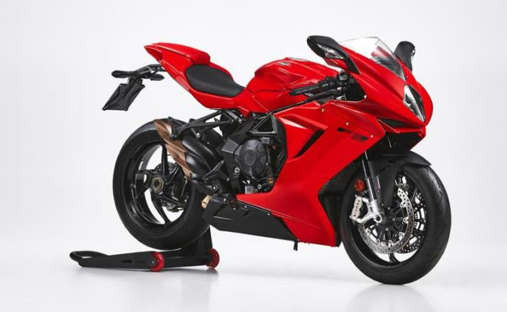 The MV Agusta F3 800 Rosso will be available in just one colour, red