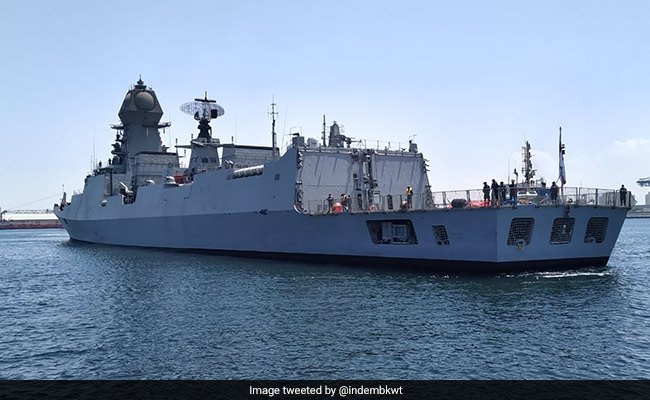 Indian Navy Ship Reaches Kuwait To Bring Liquid Medical Oxygen