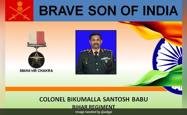 Statue Of Colonel Santosh Babu, Who Died In Galwan Valley Clash, Unveiled