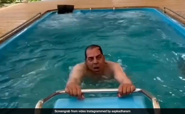 'You Truly Are The He-Man': Esha Deol Comments On Dad Dharmendra's Water Aerobics Post