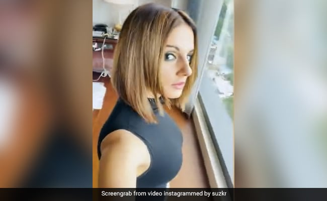 Sussanne Khan Snipped Her Blonde Bob And Is Loving It