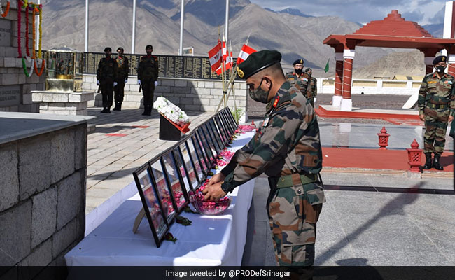 Army Tribute To Soldiers Killed In Action As Galwan Clash Completes Year