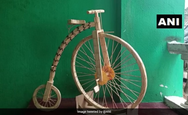Odisha Teen Takes Us Back To History Of Bicycles With 3,653 Matchsticks