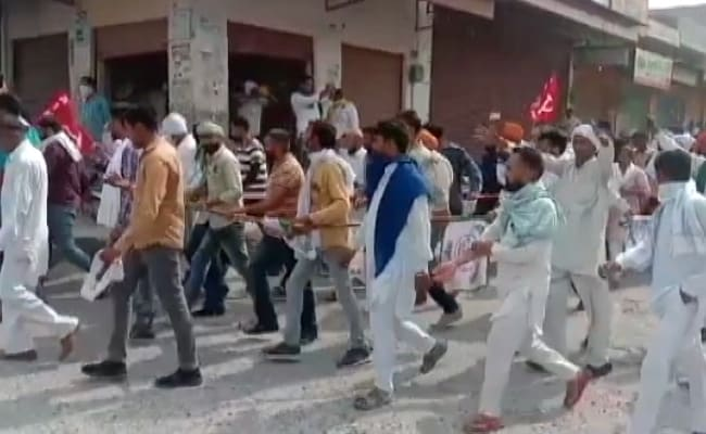 Haryana Farmers March On Police Station In Showdown Over Spat With MLA