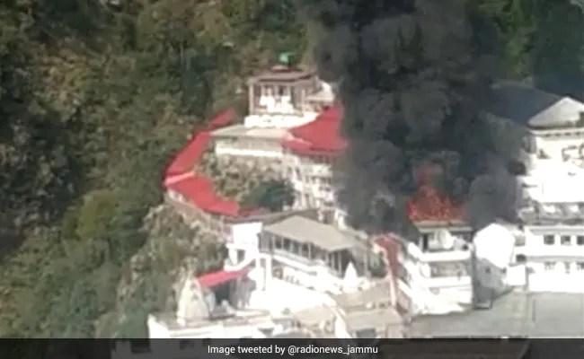 Fire Breaks Out Near Vaishno Devi Shrine In Jammu