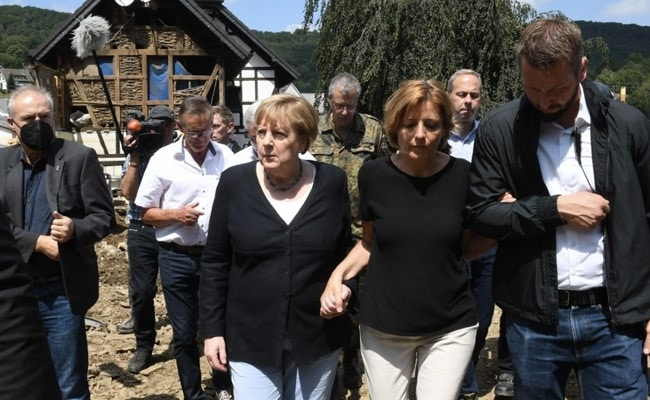 'Surreal, Eerie Situation': German Chancellor Angela Merkel Visits Flood-Affected Areas