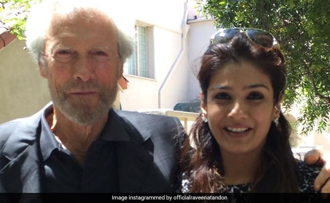 A Walk Through Raveena Tandon's 'Fan Girl Moments' With Clint Eastwood, Al Pacino, Amitabh Bachchan And Others